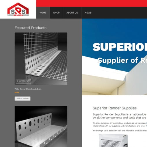Superior Render Supplies Website