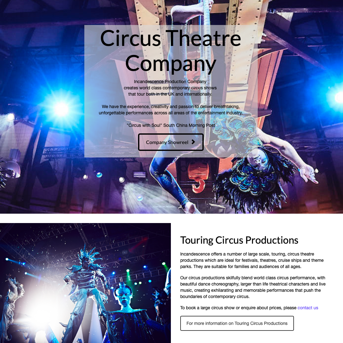 Affordable SEO in Cornwall completed for Local Circus Production Company