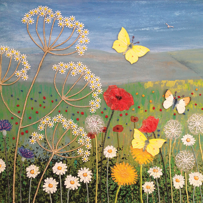 JG027 Wild Flowers and Butterflies 2-0