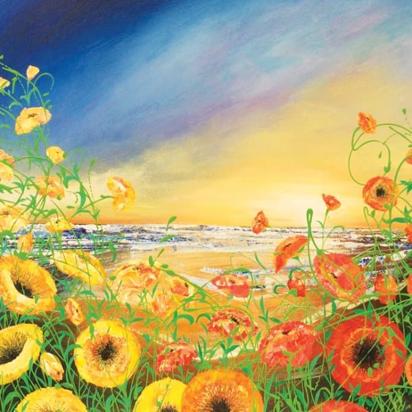 JR103 Wild Poppies by the Sea-0