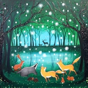 Forest Pool Angie Livingstone Nethertons Greeting Cards