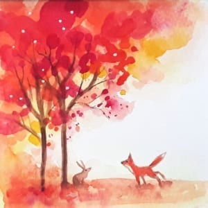 Fall Fox Angie Livingstone Nethertons Greeting Cards