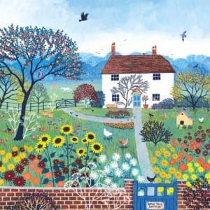 Country Cottage Jo Grundy Nethertons Greeting Card