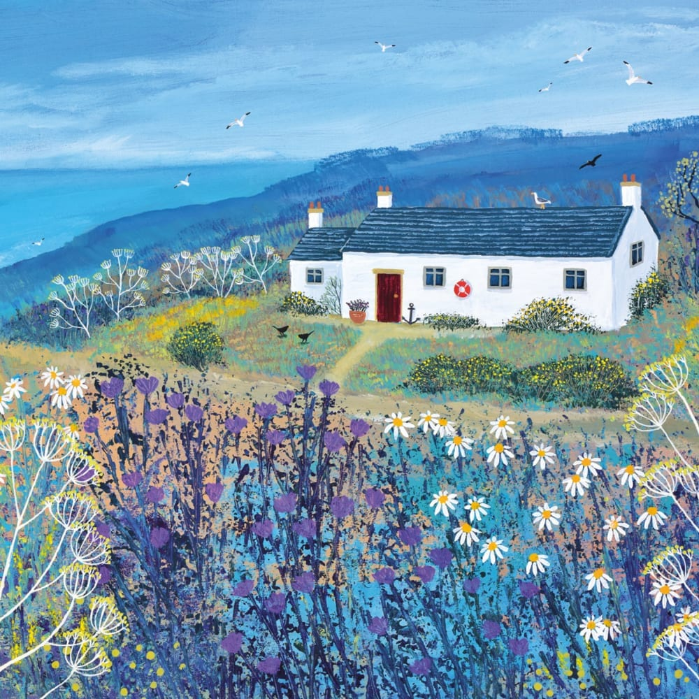 Sea Cottage Jo Grundy Nethertons Greeting Cards