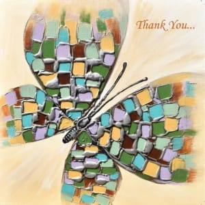 Butterfly Mosaic Amanda Dagg Thank You