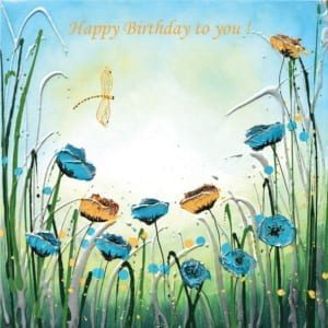Poppies Dragonfly Damsel Fly Amanda Dagg Birthday Christian
