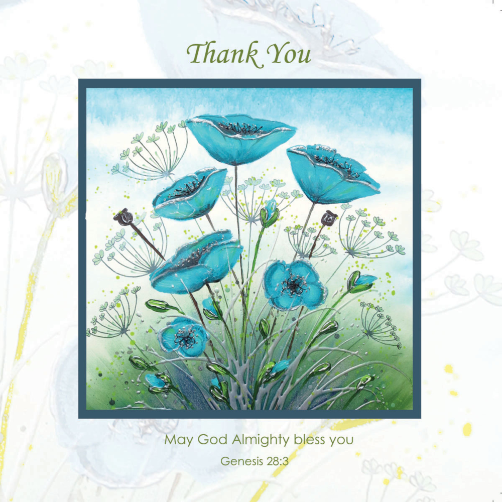 Blue Poppies Flowers Amanda Dagg Thank Christian