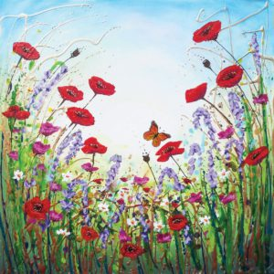 Poppies Butterflies Flowers Amanda Dagg General Christian