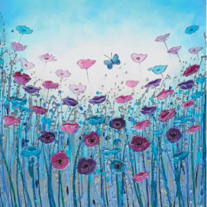 Blue Poppies Butterflies Flowers Amanda Dagg General Christian