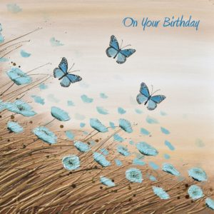 Blue Flowers Autumn Butterflies Flowers Amanda Dagg Birthday Christian