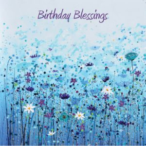 Blue Poppies Butterflies Flowers Amanda Dagg Birthday Christian