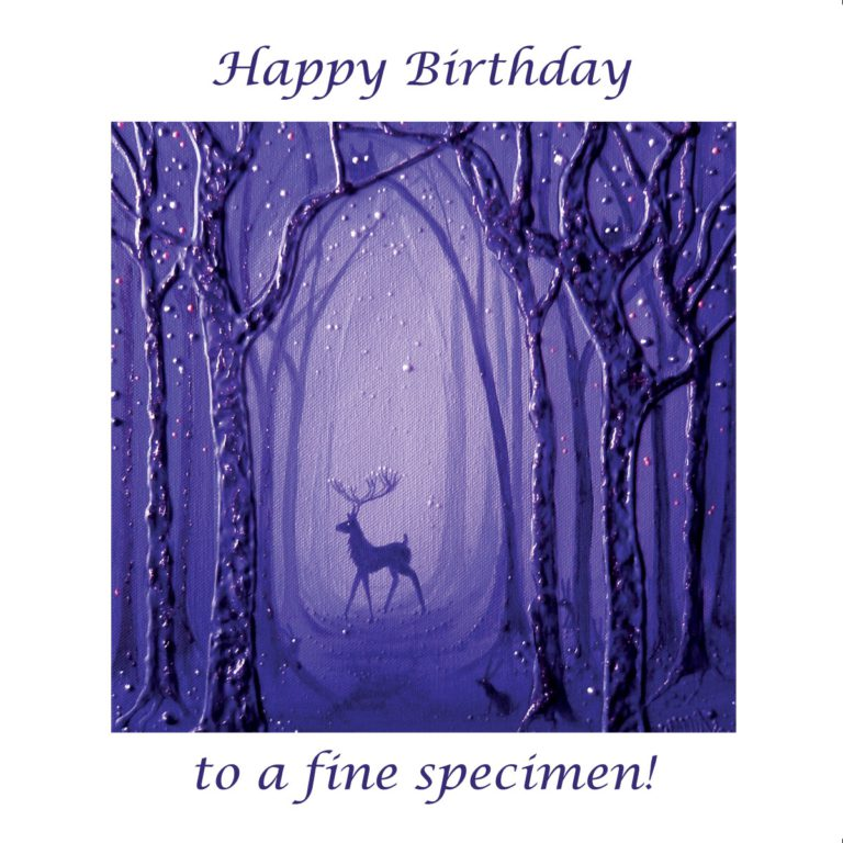 Purple Forest Stag Angie Livingstone Birthday Christian
