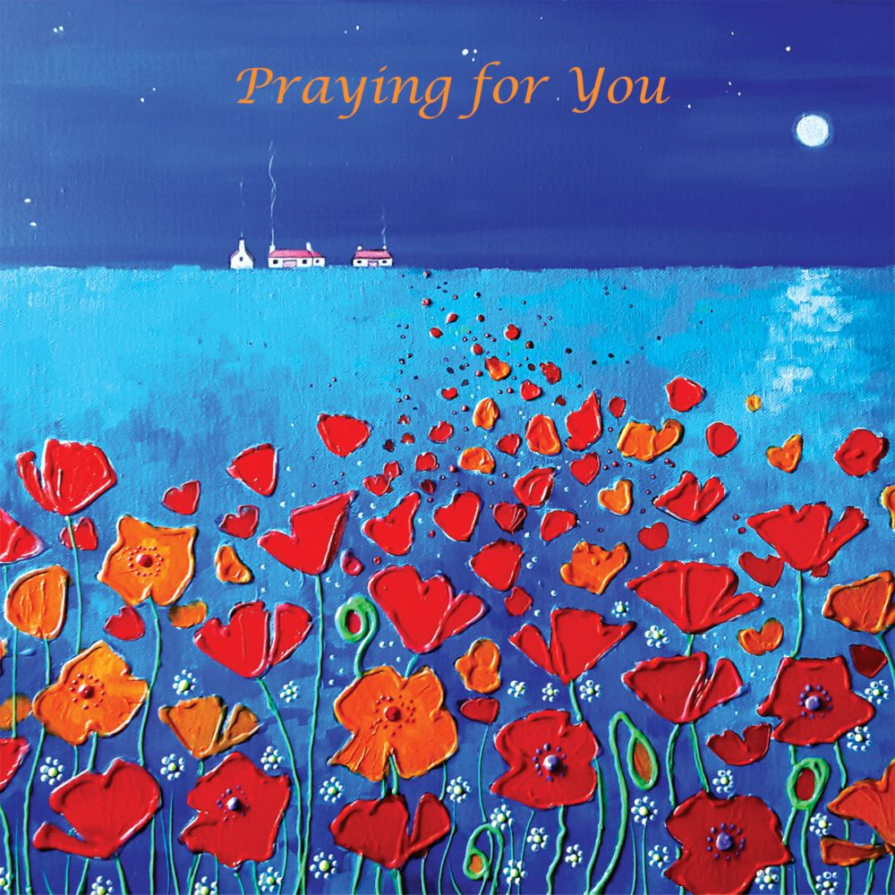 Poppies Midnight Moonlight Meadow Angie Livingstone Praying Christian