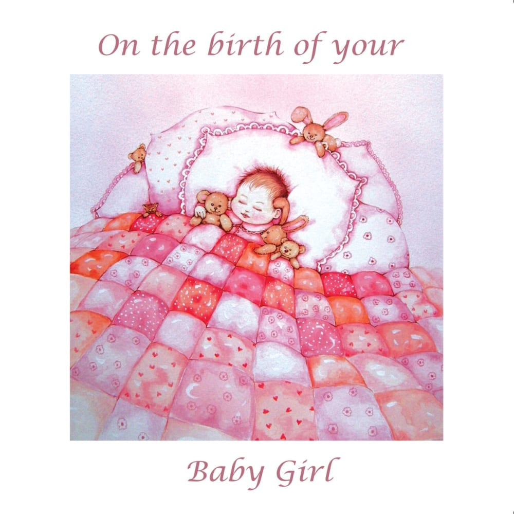 Quilt Teddy Bear Bed Pink Angie Livingstone New Baby Girl Christian