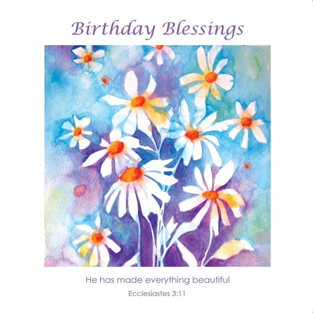 Daisies Flowers Angie Livingstone Birthday Christian
