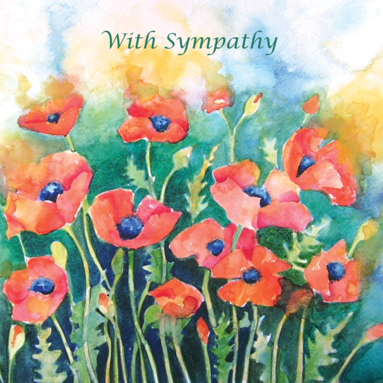 Poppies Field Angie Livingstone Sympathy Christian