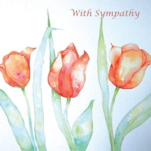 Tulips Angie Livingstone Sympathy Christian