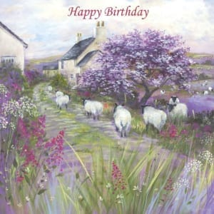 Sheep Blossom Yorkshire Country Diane Demirci Birthday Christian