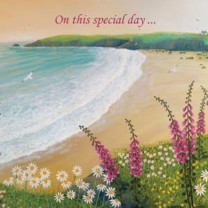 Cove Foxgloves Daisy Ocean Beach Sea Jo Grundy Special Christian