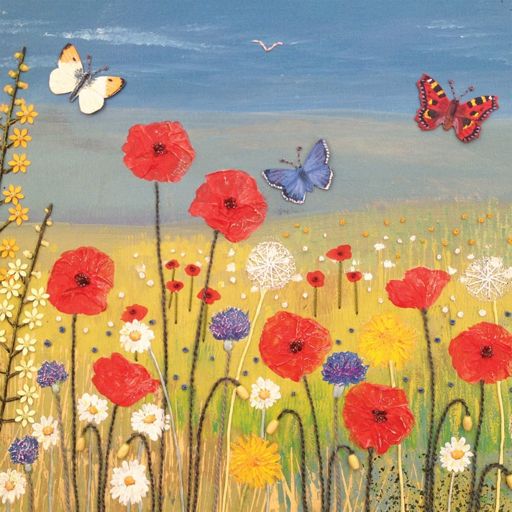 Field Summer Flowers Meadow Poppies Countryside Jo Grundy General Christian