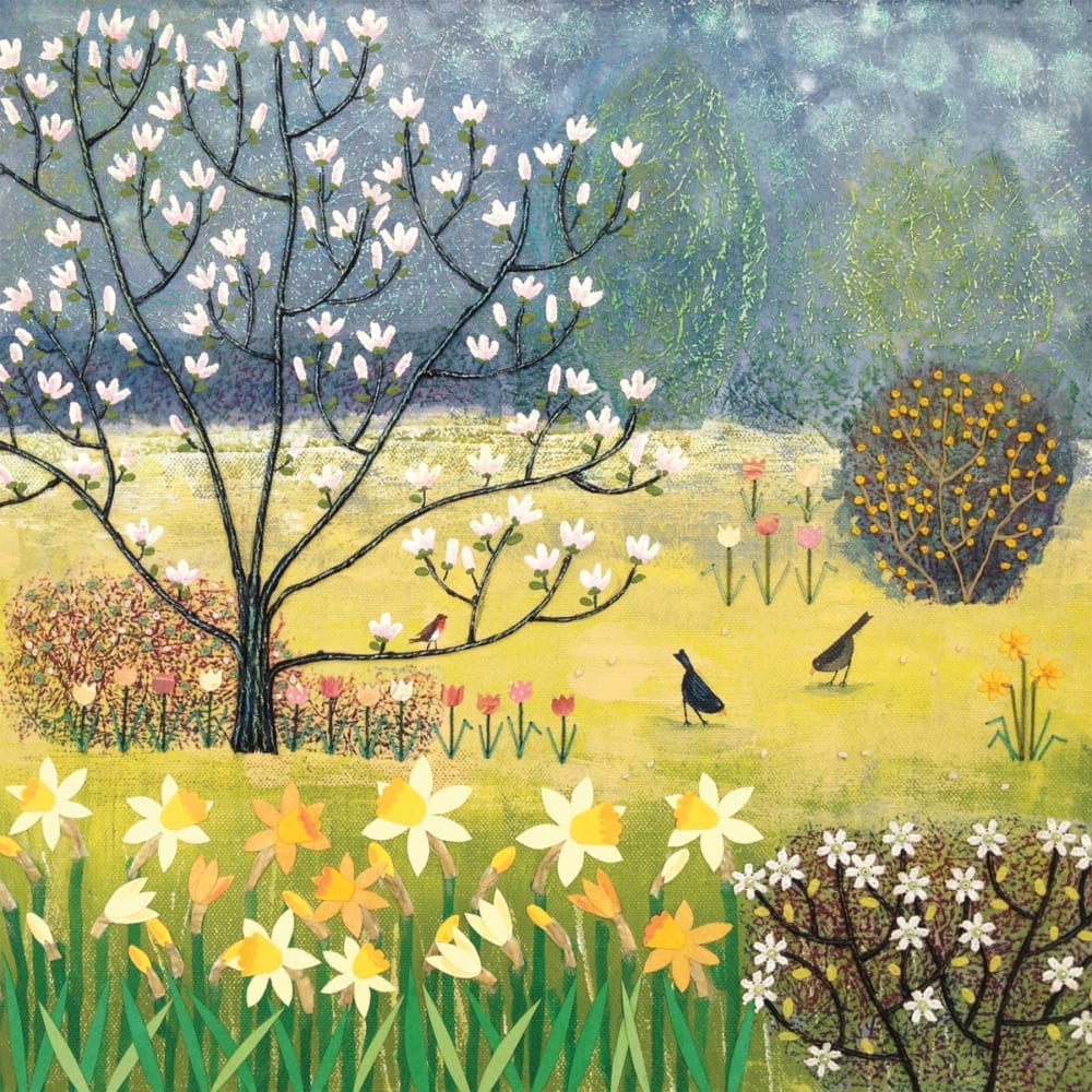 Blossom Birds Field Summer Flowers Meadow Garden Countryside Jo Grundy General Christian