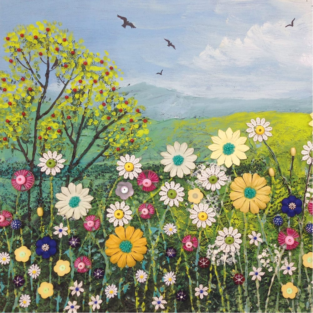 Field Summer Flowers Buttons Meadow Poppies Countryside Jo Grundy General Christian