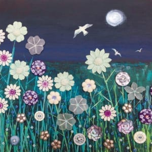 Night Meadow Owl Buttons Moonlight Reflection Jo Grundy General Christian