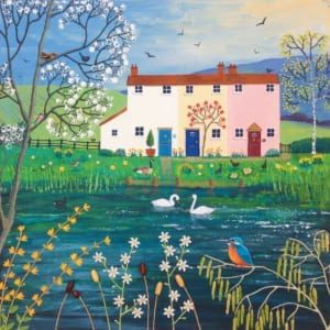 Houses Homes Pond Lake Swans Kingfisher Jo Grundy General Christian