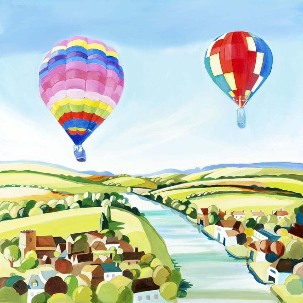 Hot Air Balloons Village Carolyn Tyrer Nethertons