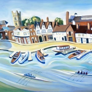 Rowing River Town Carolyn Tyrer Nethertons