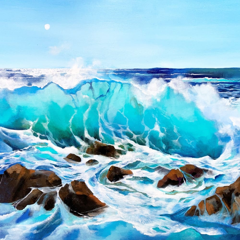 Ocean Wave Sea Rocks Carolyn Tyrer Nethertons
