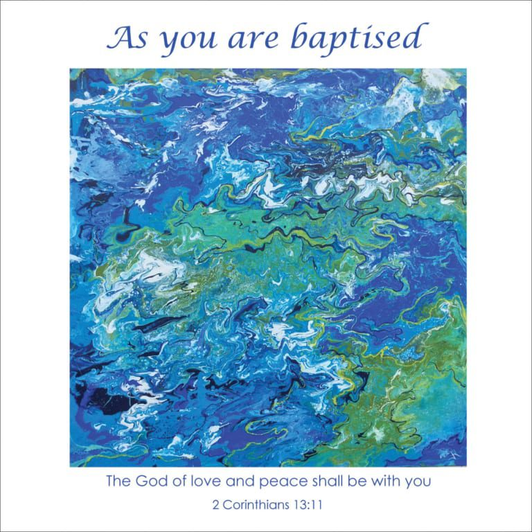 Abstract Blue Green Water Ocean Sea Janice Rogers Baptism Christian